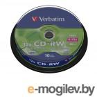 CD-RW [ 10 шт. туба ] Verbatim DataLife  8-12x /700Mb/80min/ #43480
