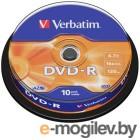 DVD-R [ 10 шт. туба ] Verbatim 16x /4,7Gb/ - AZ0