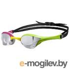 Очки для плавания ARENA Cobra Ultra Mirror 1E032 569 (серебристый/зеленый/розовый)