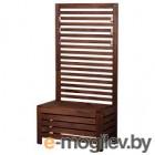 ЭПЛАРО, Садовая скамья+панель, коричневая морилка
