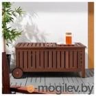 ЭПЛАРО, Садовая скамья с ящиком, коричневая морилка