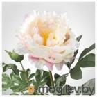 СМИККА, Цветок искусственный, Пион, белый