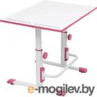 Парта Polini Kids Simple М1 (белый/розовый)