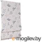 Римская штора Delfa Мини Flora СШД-01М-166/038 (52x160, серый)