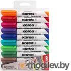 Набор маркеров для доски Kores 20800 (4шт, ассорти)