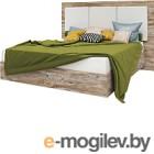Двуспальная кровать Мебель-КМК Роксет 1600 0554.8 (дуб юккон/белый глянец)
