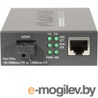 FT-806B20 медиа конвертер 10/100TX - 100Base-FX (WDM) Bi-directional Fiber Converter - 1550nm - 20KM, LFPT