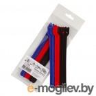 аксессуары для монтажа Хомуты-липучки Comfix 150x12mm 6шт 2xBlack/Blue/Red HLCT-150-RP22200