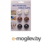 аксессуары для монтажа Держатель для кабеля Activ CC-908 6шт for 1 Cable 80273
