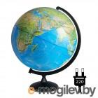 Интерактивные глобусы Глобусный мир Физико-политический 420mm с подсветкой 10355