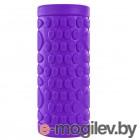 Скакалки, пояса, диски, степы и другие аксессуары Ролик массажный для йоги Indigo 14x33cm Purple