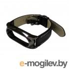 Аксессуары для умных браслетов Ремешок Apres Mijobs Leather Strap for Xiaomi Mi Band 2 Black