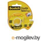 Канцелярские и клейкие ленты Клейкая лента 3M Scotch Двусторонняя 12mm x 6.3m на диспенсере 136D