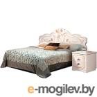 Двуспальная кровать Мебель-КМК Мелани 1 1600 0434.6-01 (белый/патина золото)