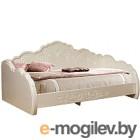 Двуспальная кровать Мебель-КМК Жемчужина 900 0380.9 (венге светлый/ясень жемчужный)