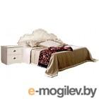 Двуспальная кровать Мебель-КМК Жемчужина 1400 0380.16 (венге светлый/ясень жемчужный)