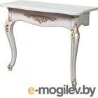 Консольный столик Мебель-КМК №1 Розалия 0517 (белый жемчуг/патина золото)