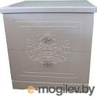 Тумба Мебель-КМК Графиня 0379.4 (белый/патина золото)