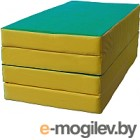 Гимнастический мат KMS sport Складной №5 1x2x0.1м (зеленый/желтый)