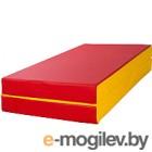 Гимнастический мат KMS sport Складной №3 1x1x0.1м (красный/желтый)
