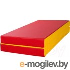 Гимнастический мат KMS sport №2 1x1x0.1м (красный/желтый)