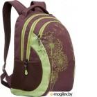 Школьный рюкзак Grizzly RD-636-1 (коричневый/салатовый)