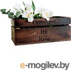 Ящик для хранения Grifeldecor Flowerpot De Rose (25x15x11, коричневый)