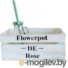 Ящик для хранения Grifeldecor Flowerpot De Rose (25x15x11, белый)
