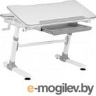 Парта Растущая мебель Smart E501 (белый/серый декор)