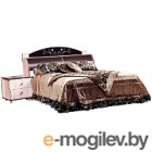 Двуспальная кровать Мебель-КМК Магия 1600 0363.7 (дуб шамони/орех шоколад)