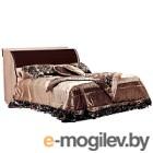 Полуторная кровать Мебель-КМК 1200 Магия 0401 (дуб шамони/орех шоколад)