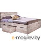 Двуспальная кровать Мебель-КМК 1600 Лондон 2 0478.4 (дуб юккон)
