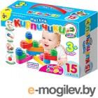 Развивающая игрушка Десятое королевство Мягкие кирпичики мини / 02672