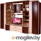 Комплект мебели для спальни Мебель-КМК Орфей-6 0154 (дуб молочный/каштан)
