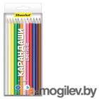 Карандаши цветные Silwerhof 134214-18 Народная коллекция шестигранные 18цв. коробка/европод.