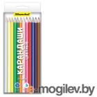 Карандаши цветные Silwerhof 134214-24 Народная коллекция шестигранные 24цв. коробка/европод.