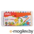 Масляная пастель Deli EC20104 Color Emotion шестигранные 12цв. пл.кор.