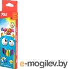 Карандаши цветные Deli EC00660 Color Kids трехгранные 6цв. Jumbo коробка/европод.