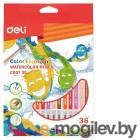 Карандаши цветные акварельные Deli EC00730 Color Emotion липа 36цв. коробка/европод.