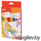 Карандаши цветные Deli EC00310 ColoRun тополь 18цв. коробка/европод.