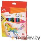 Карандаши цветные Deli ColoRun EC00320 тополь 24цв. коробка/европод.
