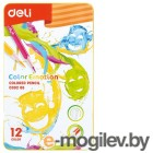 Карандаши цветные Deli EC00205 Color Emotion липа 12цв. мет.кор.