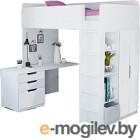 Комплект мебели Polini Kids Simple с письменным столом и шкафом (белый)