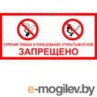 Знаки безопасности и эвакуационные светильники Фолиант Знак Курение табака и пользование открытым огнем запрещено ФЗ-87