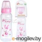 Бутылочка для кормления Sun Delight Выпуклая / 31257 (240мл, розовый)
