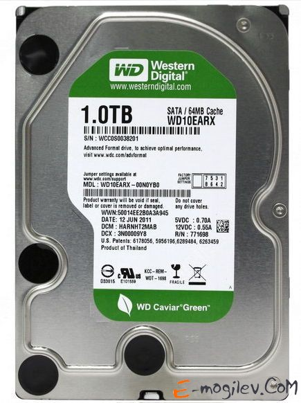 Western Digital 1000Gb 3.5 WD10EARX
