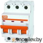 Выключатель автоматический TDM ВА 47-29 3P 50А (C) 4.5кА / SQ0206-0114