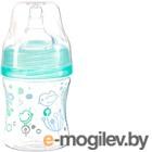 Бутылочка для кормления BabyOno Антиколиковая с широким горлышком / 402 (120мл, бирюзовый)