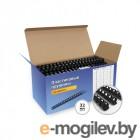 Пластиковые пружины для переплета ГЕЛЕОС 32 мм (300 листов), черные, 50 шт.