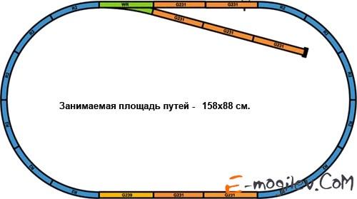 Piko 57170 Стартовый набор Электровоз и 3 грузовых вагона